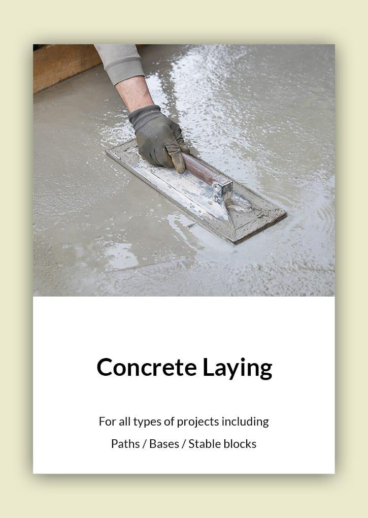 Daniel Bunting - Garden Contractors - Concrete Laying