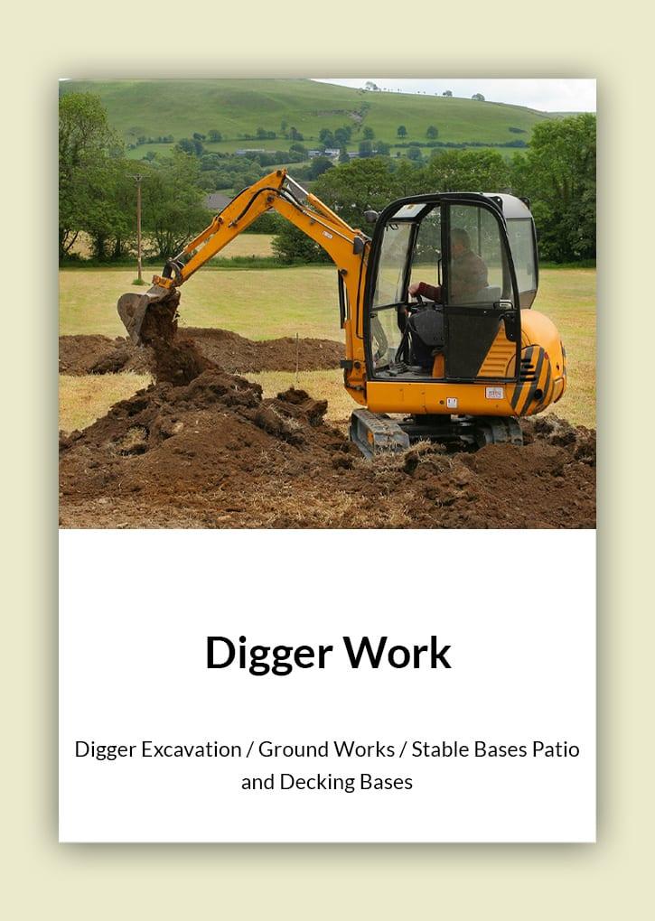 Daniel Bunting - Garden Contractors - Digger Work